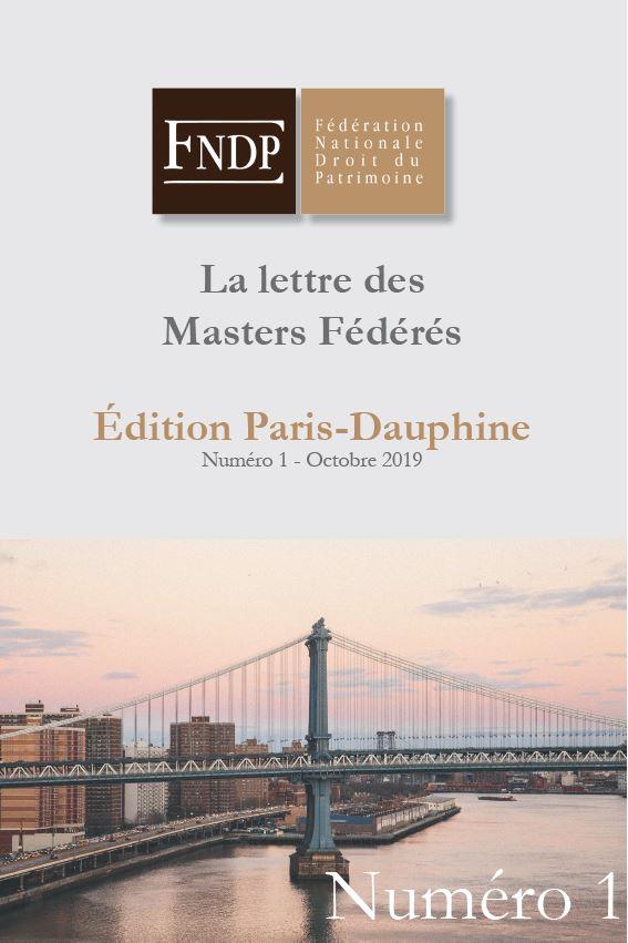 lettre des masters fédérés de la FNDP