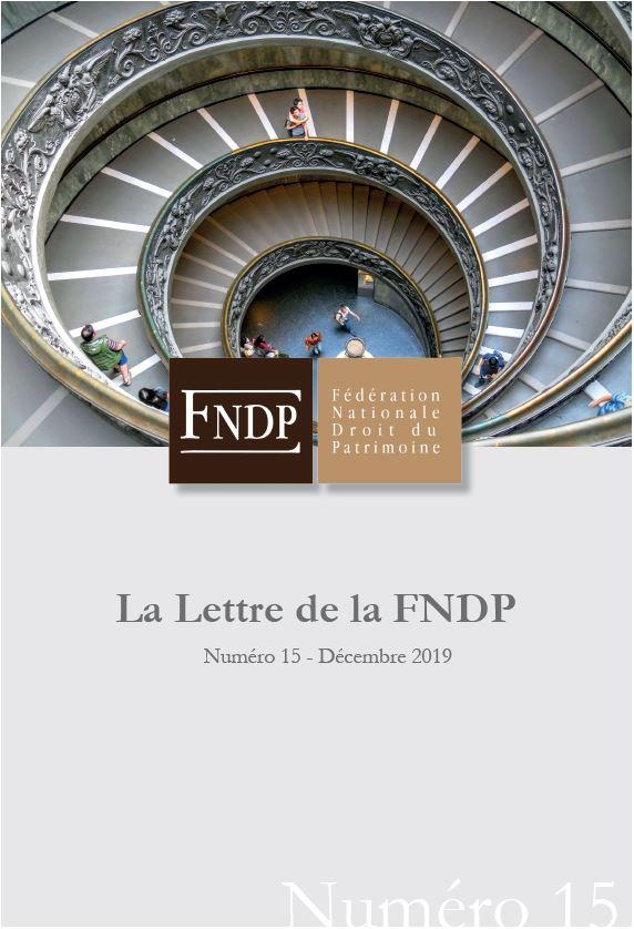 La lettre de la FNDP N°15