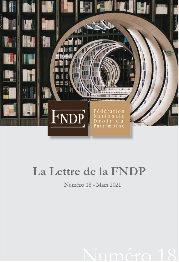 La lettre de la FNDP N°18